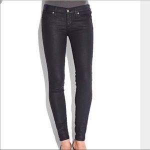 Lucky Brand Black Coated Charlie Skinny Jean